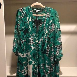 Diane von Furstenberg silk dress.